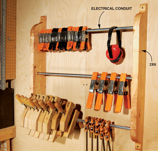 Universal Cl& Rack & Universal Clamp Rack - Popular Woodworking Magazine
