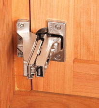 Cabinets With Pull Out Shelves Require Doors Special Zero Protrusion Hinges