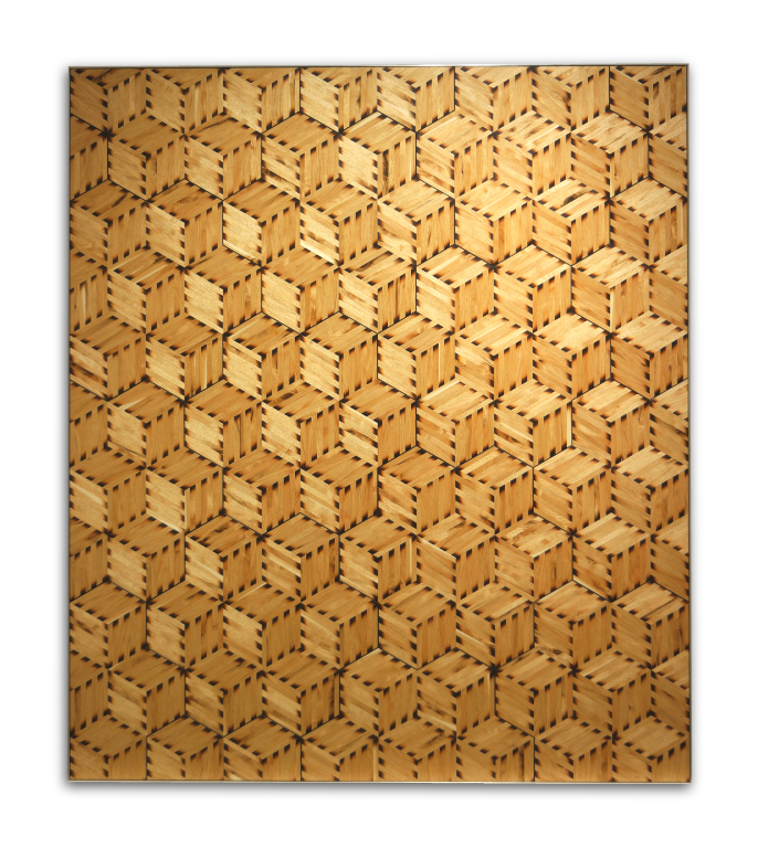 Sand-Shaded Parquetry Door