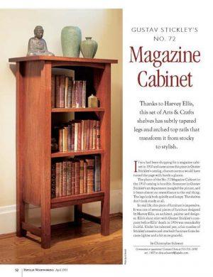 Gustav Stickley's No. 72 Magazine Cabinet-0