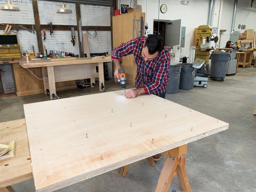 placing a grid of screws