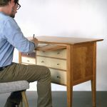 Shaker-Inspired Sewing Counter