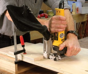 A guide block will locate the position of a shelf, and provide layout marks.
