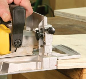 The most common mistake is allowing the machine to tilt as you cut the slot, preventing the parts from lining up properly.