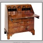 Tiger maple slant-front desk.