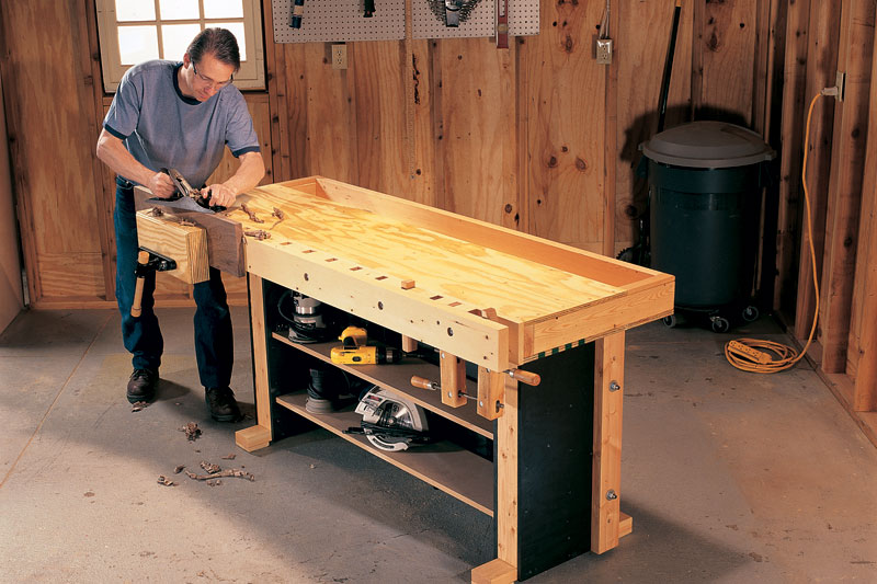 Fine Woodworking End Table Plans: Tom's Torsion Box Workbench