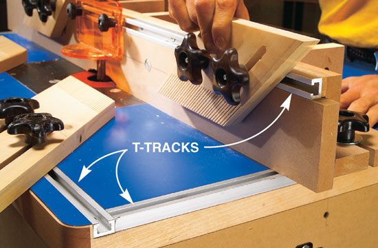 American woodworker router table popular woodworking magazine easy to make sacrificial subfences allow you to make a zero clearance opening for super clean super safe cuts simply slide the infeed fence slowly into keyboard keysfo Image collections