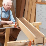 5. Assemble one beam, without glue, and turn it on its side. This creates a level surface for gluing up the other beam.
