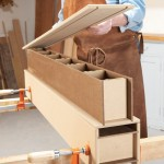 8. Apply glue to the top piece and drop it in place. The next day, use this beam as a support for gluing up the other beam.