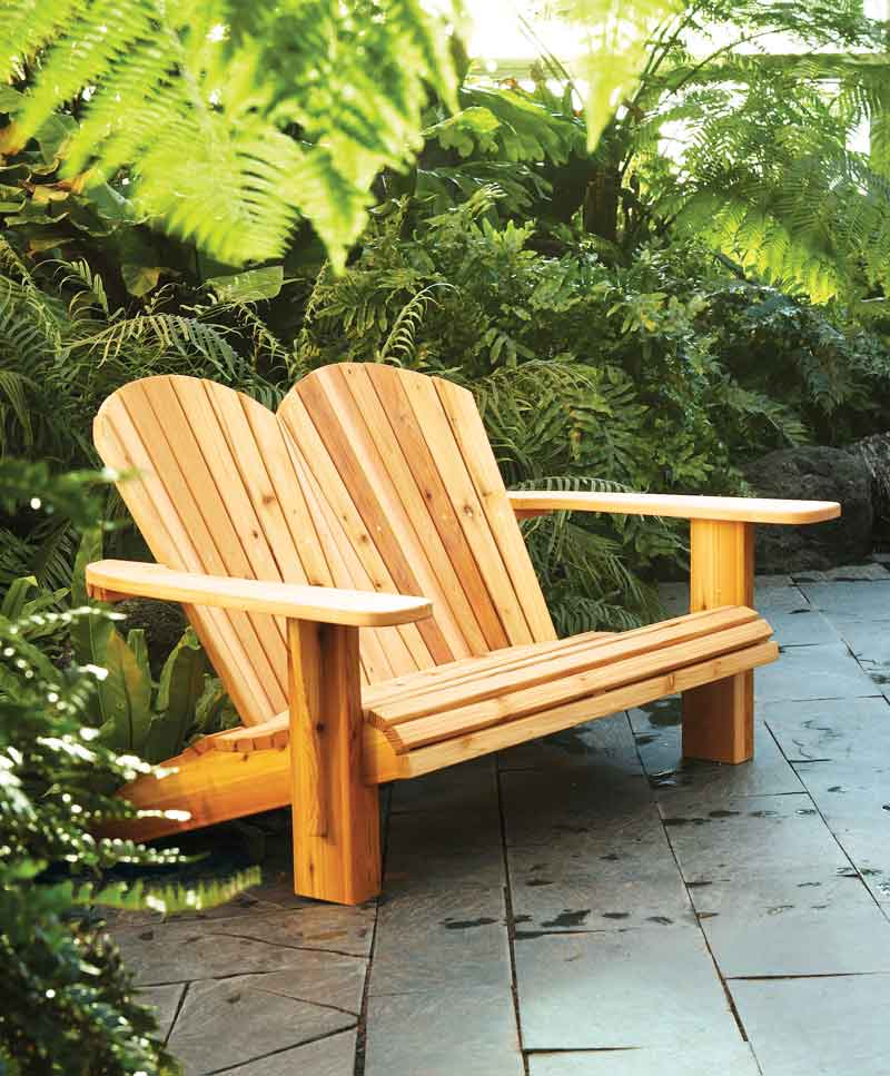 Adirondack Loveseat DIY Double Adirondack Chair Plans