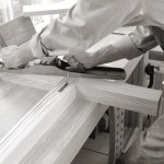 The long sole of the jointer plane allows it to true both individual boards and assemblies, such as a door or the ends of this table. Don't be afraid to work across the grain with this tool; a power sander or smoothing plane will clean up the work later.