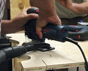 Articulating vacuum port on new Bosch Jig Saw
