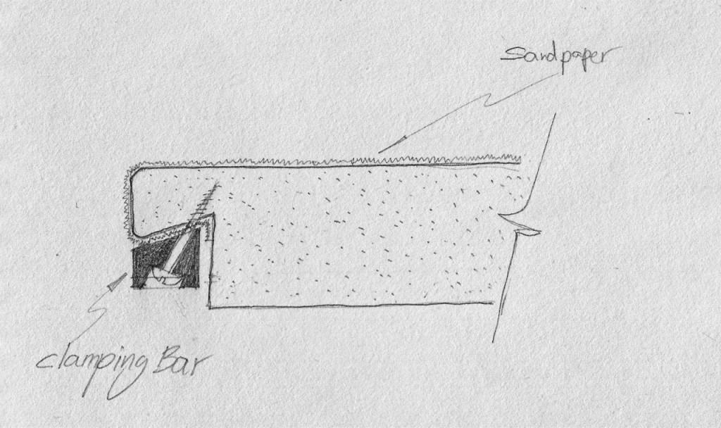 Bar and screws sanding plate