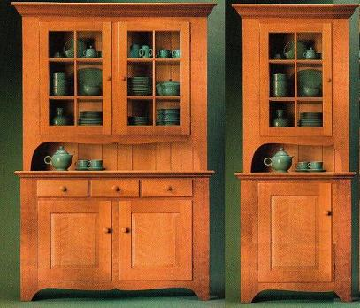 In July 2005 American Woodworker Magazine Issue #115, I Saw An Article On  Building This Attractive Hutch (left). I Spontaniously Fell In Love With It  And ...