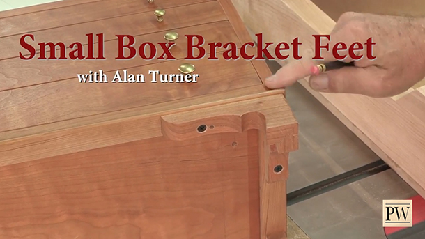 simple joinery to make bracket feet