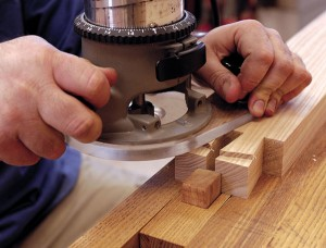 """A 17 percent rebate. Cut away about 1⁄4"""" to form the rabbet."""