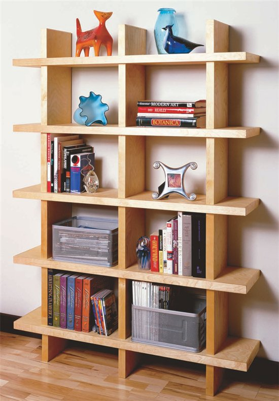 aw extra contemporary bookcase popular woodworking magazine rh popularwoodworking com best wood for bookshelves good wood for bookshelves - Best Wood For Bookshelves