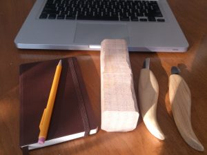 Dan's kit for woodworking on the go.