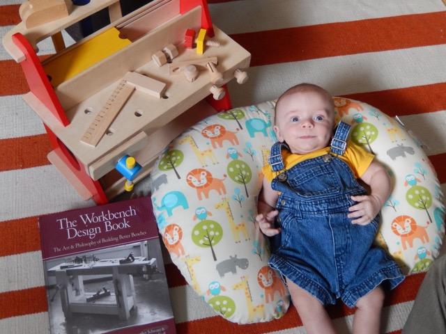 first wooden workbench