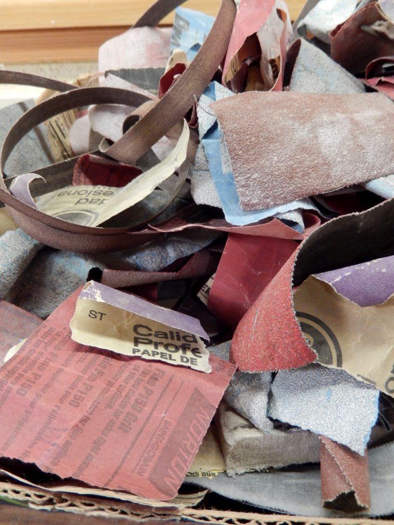 Pile of sandpaper