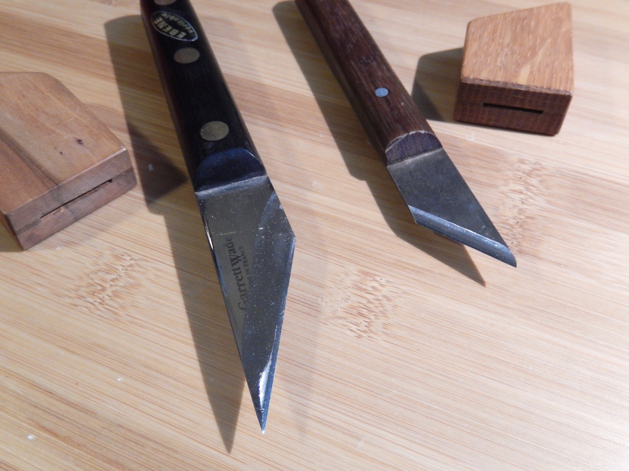 My first two marking knives