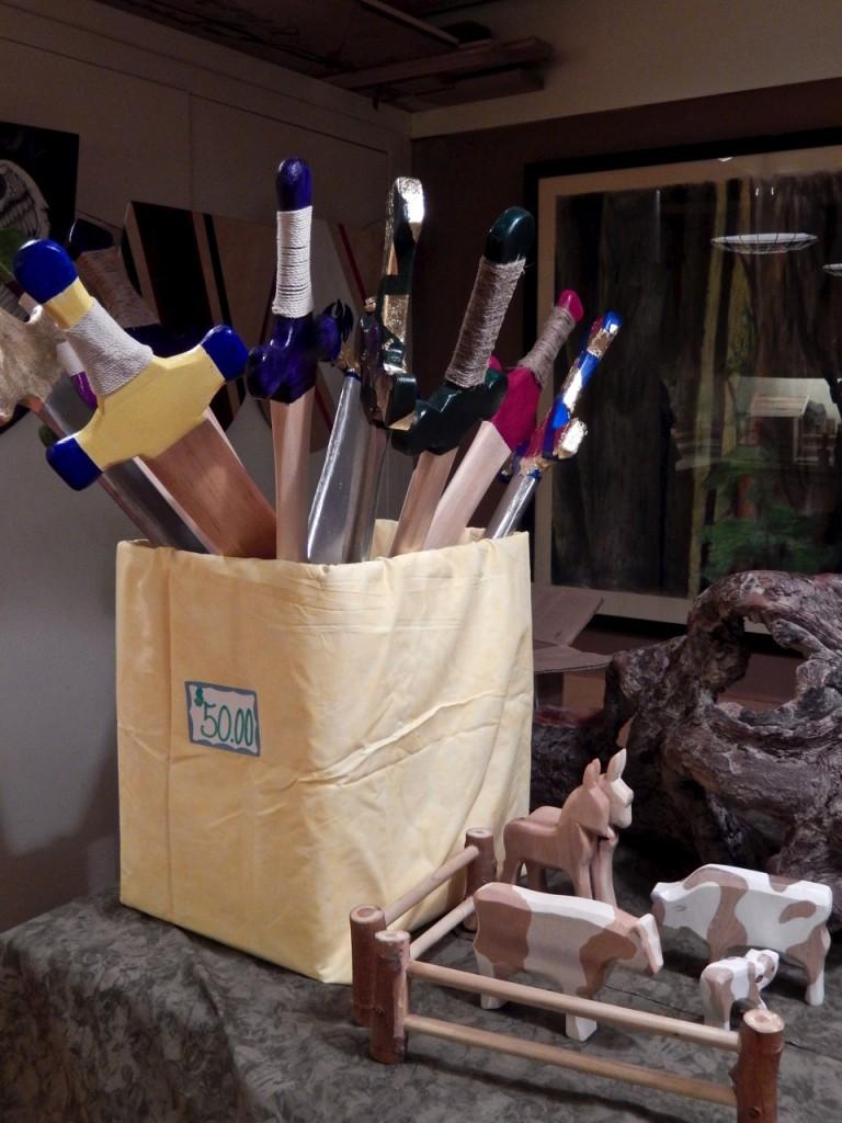 Wooden Swords at Rudolf Steiner School Fall fair