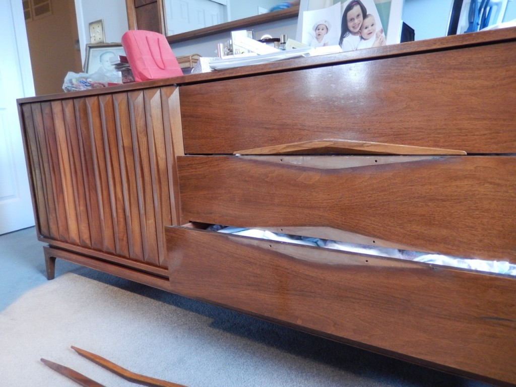 Mid-Century Walnut Dresser 1