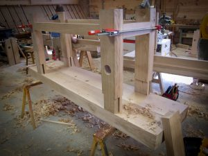 """A """"Robo"""" bench I am building with the help of """"Lee-Nelson"""" planes."""