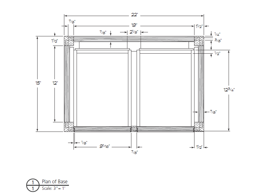 Full scale drawing plans for woodworking example of a plan view also called a base plan malvernweather Gallery