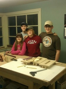 Woodworking with kids can be fun, especially with four! Jaida, Jordan, Janae and Jalen.