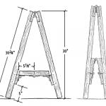Fold-away work horse diagram
