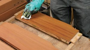 Greene & Greene furniture had a rich reddish brown color.