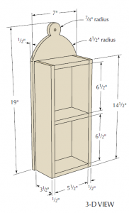 """Click on the image for your """"Hanging Shelves"""" plan."""