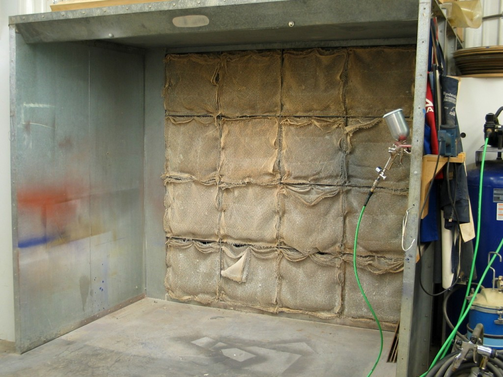 Here's what a professional spray booth looks like