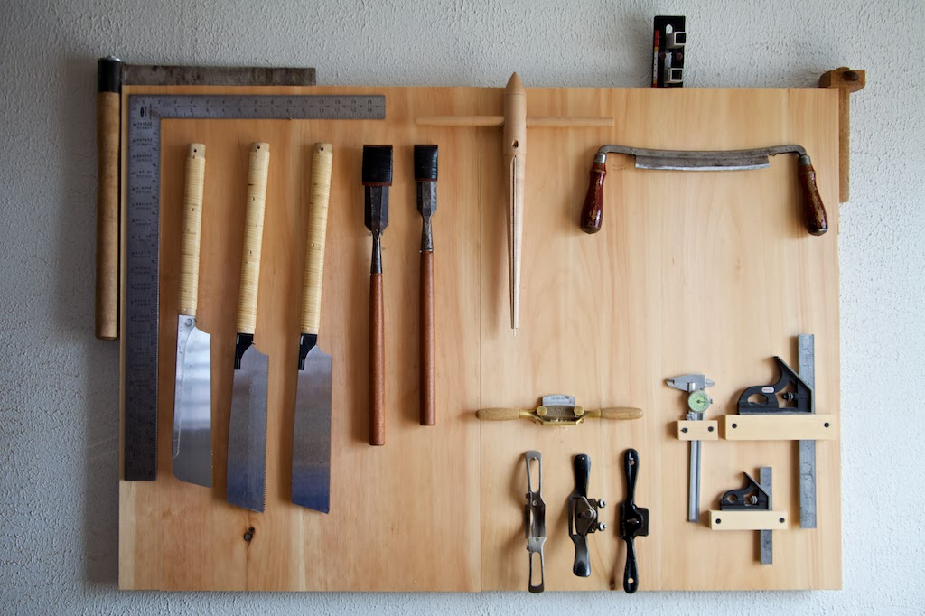 Tim's tools for producing chairmaking tools. Photo credit: Sarah Morrill.