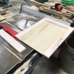Cut the door to size on the table saw