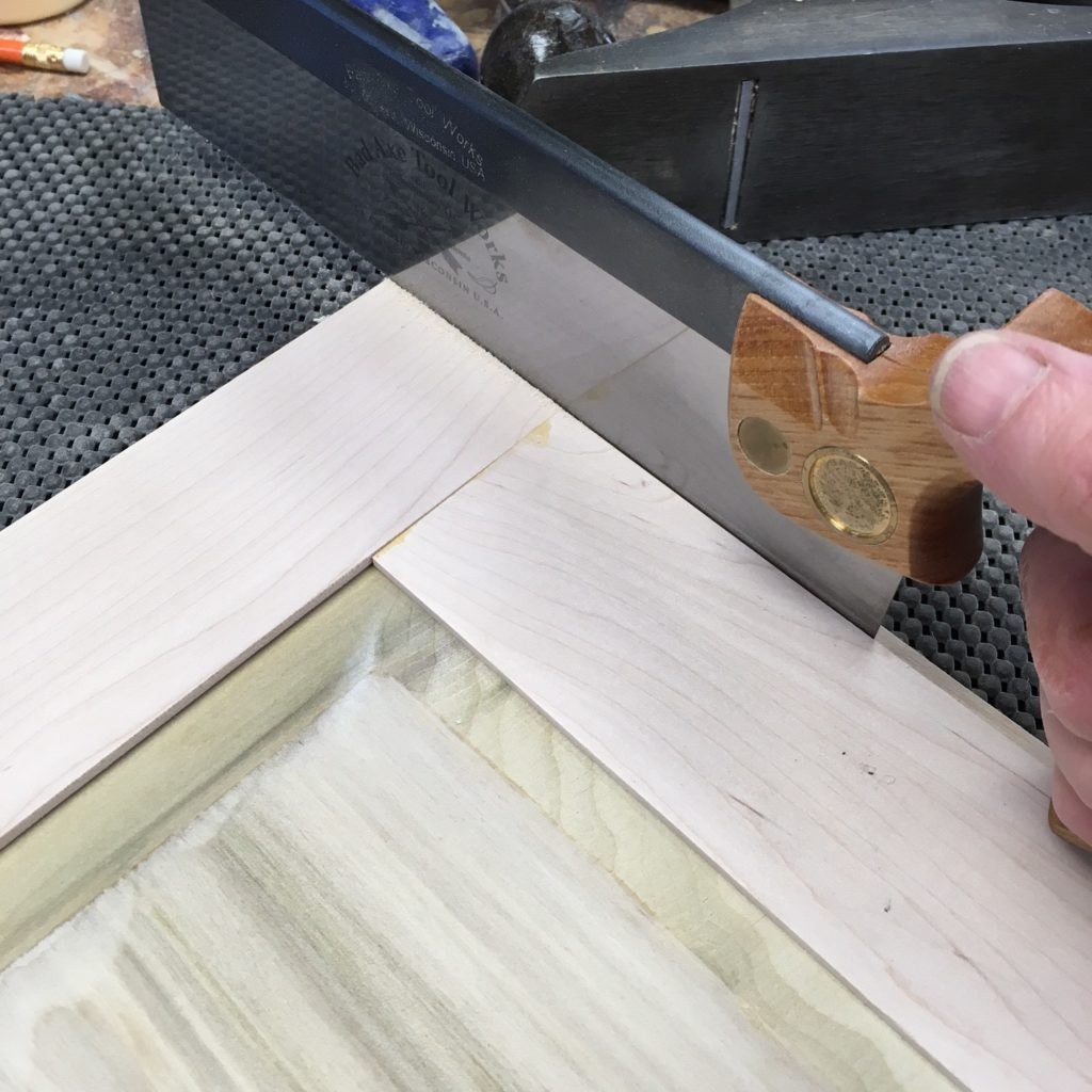 Cutting the rabbet with a back saw makes for a quick fix