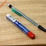 lumber crayon and mechanical pencil
