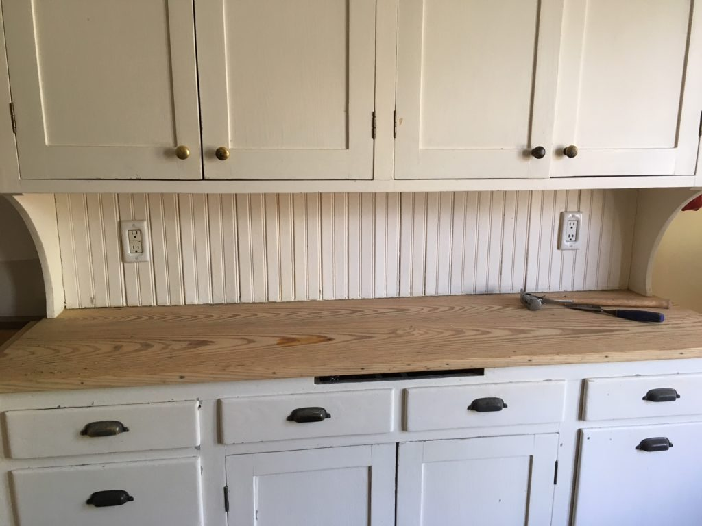 Refinishing a wooden counter