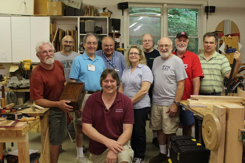 Woodworking friends build a dovetailed box