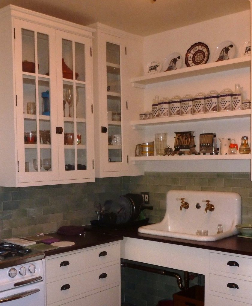 pactor kitchen replaced removed slides rollout trash drawer rustic of and with existing