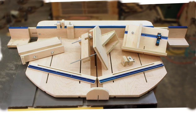 don t just make a table saw sled make a megasled rh popularwoodworking com table saw sled runners table saw sled track