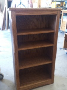 """The """"New Mexico"""" Arts and Crafts style bookcase that my uncle and I made together."""