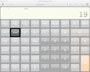 Your calculator probably has a Mod button