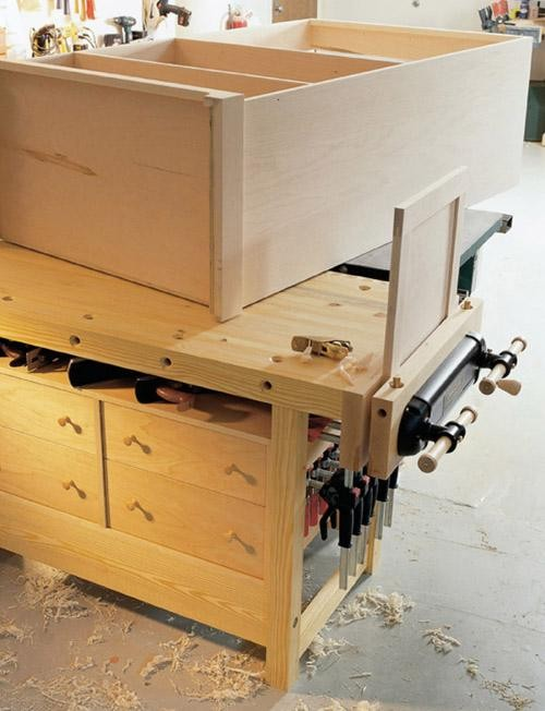 Tool Storage. 8. The non-interference principle. When you build your first workbench one of the primary urges is to fill the space below the benchtop with ... & The 9 Principles of Hand Tool Storage Part 3 - Popular Woodworking ...