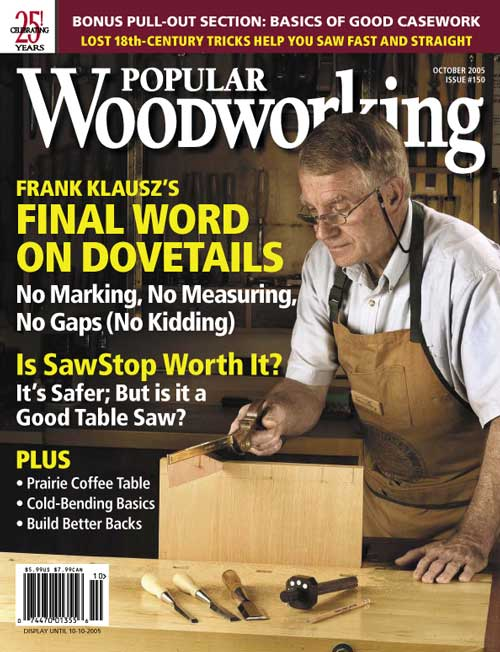 October 2005 Issue Popular Woodworking