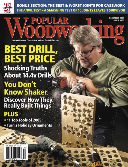 December 2005 Issue Popular Woodworking
