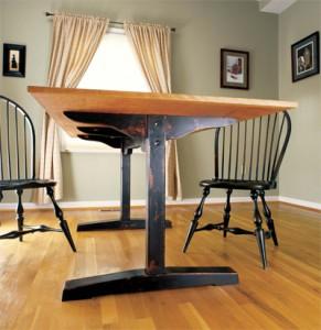 shaker trestle table