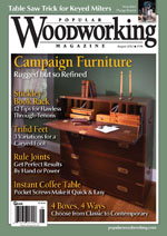 Popular Woodworking Magazine August 2012 Cover