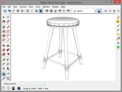 The Completed Shaker Shop Stool